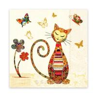 Triskele Art Card - Contented Cat