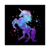 Triskele Art Card - Cosmic Unicorn