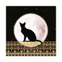 Triskele Art Card - Full Moon Cat