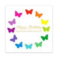 Triskele Art Card - Happy Birthday Butterflies