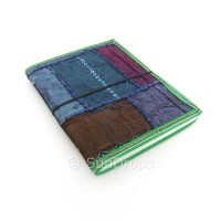 Large Patchwork Journal - Blue