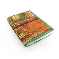 Large Patchwork Journal - Orange