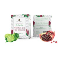 Arovatika Clear Sugar Soap - Pomegranate with Fresh Kerala Lime