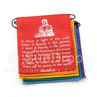 Rainbow Buddha Affirmation / Peace Flags
