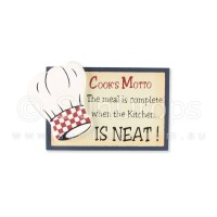 Cook's Motto Magnet - The Meal Is Complete