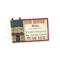 House Motto Magnet - It's Nice To Be Important