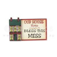 House Motto Magnet - Bless This Mess