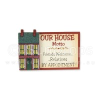 House Motto Magnet - Friends Welcome