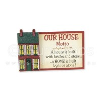 House Motto Magnet - A Home Is Built By Love Alone