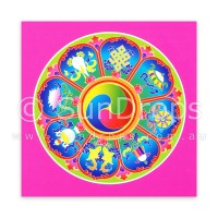 Greeting Card - Eight Auspicious Symbols