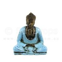 Meditating Buddha Statue - Blue