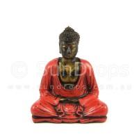 Meditating Buddha Statue - Red