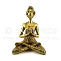 Yoga Lady Statue - Gold