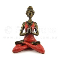 Yoga Lady Statue - Red