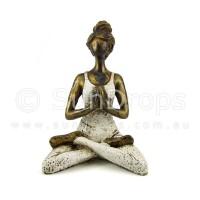 Yoga Lady Statue - White