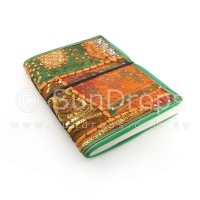 Large Patchwork Journal - Orange