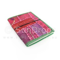 Large Patchwork Journal - Pink