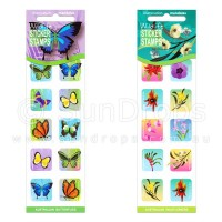 Sticker Stamps Value Pack - Australian Butterflies and Wildflowers
