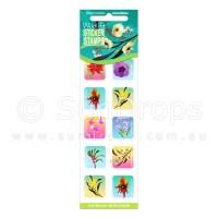 Sticker Stamps - Australian Wildflowers