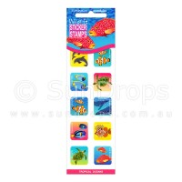 Sticker Stamps - Tropical Oceans