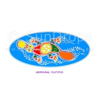 Sunlight Window Sticker - Aboriginal Platypus