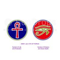Sunlight Window Sticker - Ankh and Eye of Horus