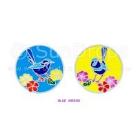 Sunlight Window Sticker - Blue Wrens