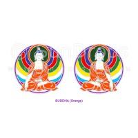Sunlight Window Sticker - Buddha (Orange)