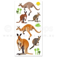 Australian Wall Art Stickers - Kangaroos and Wallabies