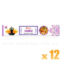 Ambika Incense Sticks - Divine Guru - 12 Packets / 180 Sticks