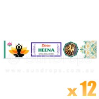 Ambika Incense Sticks - Divine Heena - 12 Packets / 180 Sticks