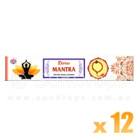 Ambika Incense Sticks - Divine Mantra - 12 Packets / 180 Sticks