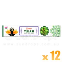 Ambika Incense Sticks - Divine Tulasi - 12 Packets / 180 Sticks