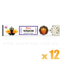 Ambika Incense Sticks - Divine Wisdom - 12 Packets / 180 Sticks