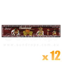 Balaji Incense Sticks - Chandanam - 12 Packets / 180 Sticks