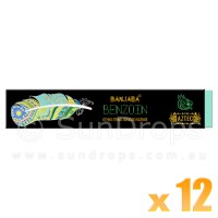 Banjara Incense Smudge Sticks - Benzoin - 15g x 12