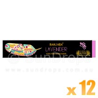 Banjara Incense Smudge Sticks - Lavender - 15g x 12