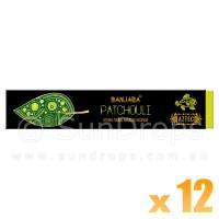 Banjara Incense Smudge Sticks - Patchouli - 15g x 12