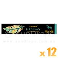 Banjara Incense Smudge Sticks - Rosemary - 15g x 12