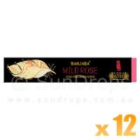 Banjara Incense Smudge Sticks - Wild Rose - 15g x 12