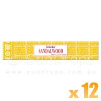 Goloka Premium Series - Sandalwood - 15g x 12