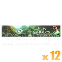 Green Tree Incense Sticks - Agua Sagrados - 15g x 12