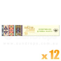 Native Soul Incense Smudge Sticks - Sweetgrass & Yerba Santa - 15g x 12
