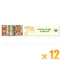 Native Soul Incense Smudge Sticks - White Sage & Cedar - 15g x 12