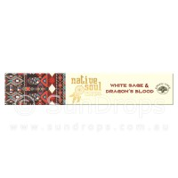 Native Soul Incense Smudge Sticks - White Sage & Dragons Blood - 15g