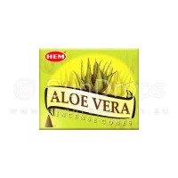 Hem Incense Cones - Aloe Vera - 1 Packet / 10 Cones