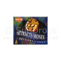 Hem Incense Cones - Attracts Money - 1 Packet / 10 Cones