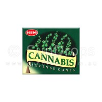 Hem Incense Cones - Cannabis - 1 Packet / 10 Cones