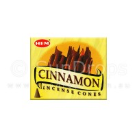 Hem Incense Cones - Cinnamon - 1 Packet / 10 Cones