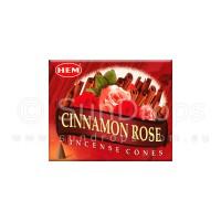 Hem Incense Cones - Cinnamon Rose - 1 Packet / 10 Cones